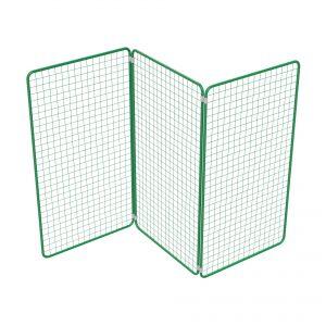 Präsent   Warenpräsentation – Präsentationsgitter rechteckig Zusammenstellung mit Verbindern